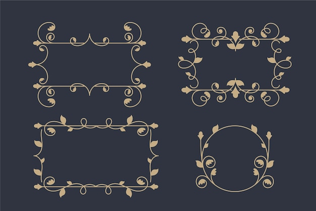 Pacchetto cornice ornamentale vintage