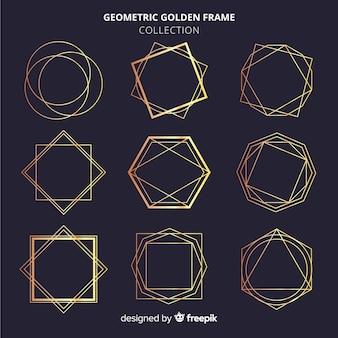 Pacchetto cornice oro geometrica