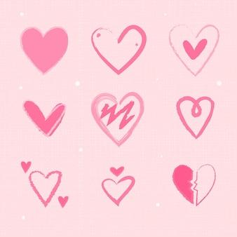 Pacchetto cuore disegnato a mano