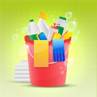 Pacchetto di attrezzature per la pulizia delle superfici
