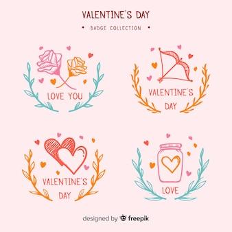 Pacchetto di badge di san valentino
