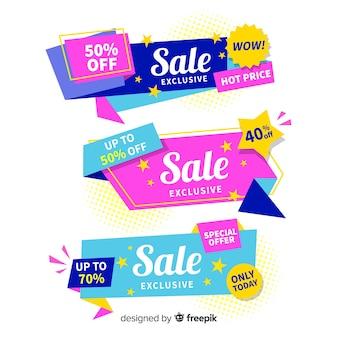 Pacchetto di banner di vendita geometrico colorato