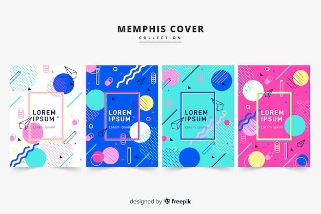 Pacchetto di brochure in stile memphis