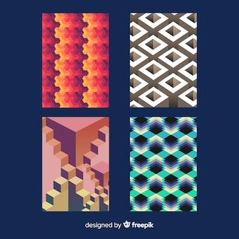 Pacchetto di brochure modello isometrico colorato