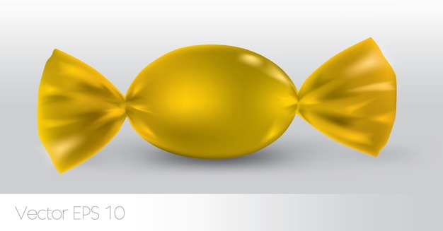 Pacchetto di caramelle ovali gialle
