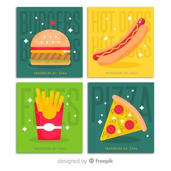 Pacchetto di carte cibo piatto