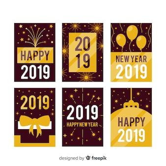 Pacchetto di carte oro nuovo anno