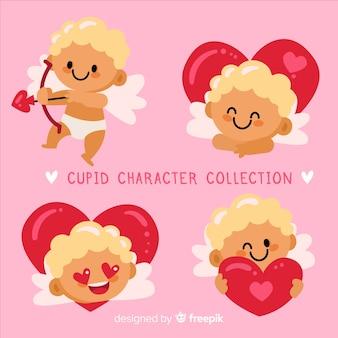 Pacchetto di cherubin carino di san valentino