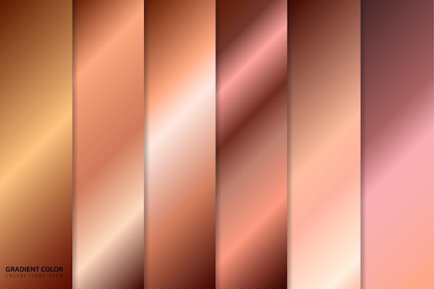 Pacchetto di collezioni con sfumature di colore oro rosa