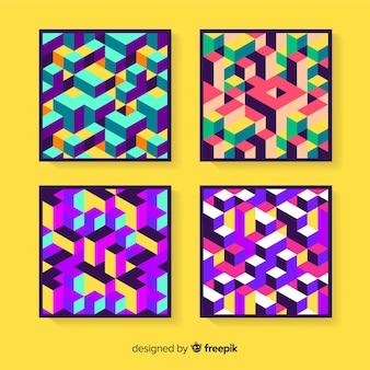 Pacchetto di copertura colorato modello isometrico