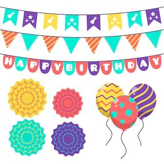 Pacchetto di decorazioni di compleanno