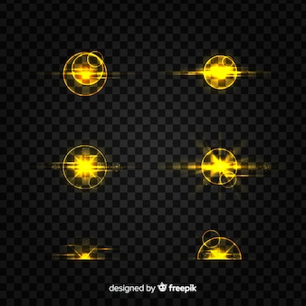 Pacchetto di effetti di luce brillante