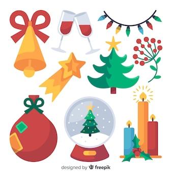 Pacchetto di elementi di decorazione natalizia