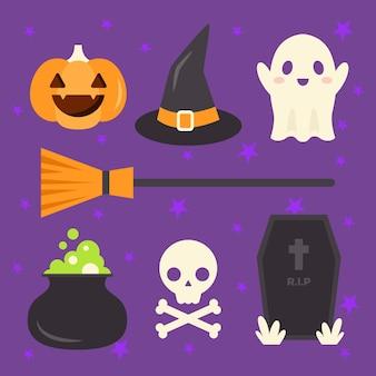 Pacchetto di elementi di halloween