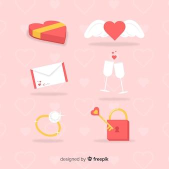 Pacchetto di elementi di san valentino