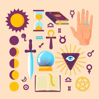 Pacchetto di elementi esoterici