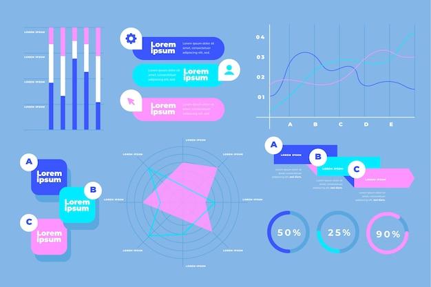 Pacchetto di elementi infografici