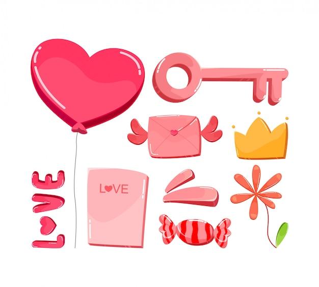 Pacchetto di elementi per san valentino