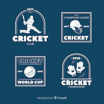 Pacchetto di etichette di cricket