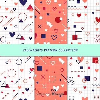 Pacchetto di forme geometriche per san valentino