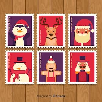 Pacchetto di francobolli di natale
