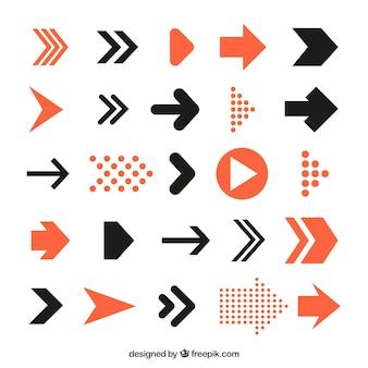 Pacchetto di frecce infografica