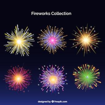 Pacchetto di fuochi d'artificio colorati