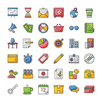 Pacchetto di icone di affari e finanza