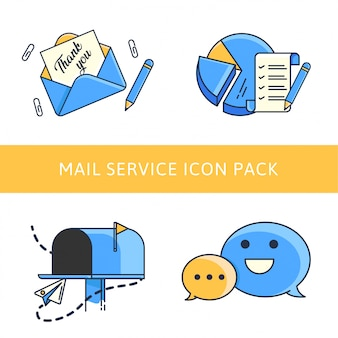 Pacchetto di icone di email marketing