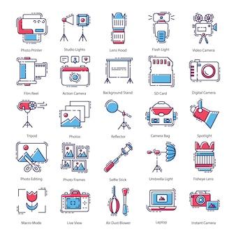 Pacchetto di icone di fotografia