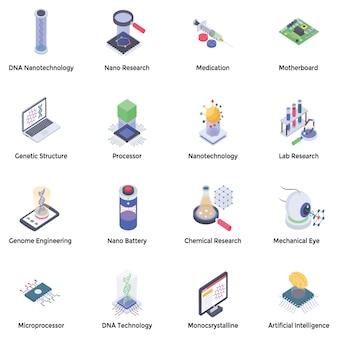 Pacchetto di icone di nanotecnologia