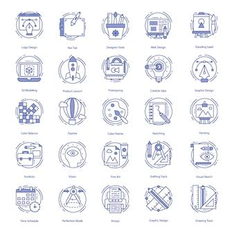 Pacchetto di icone di web design