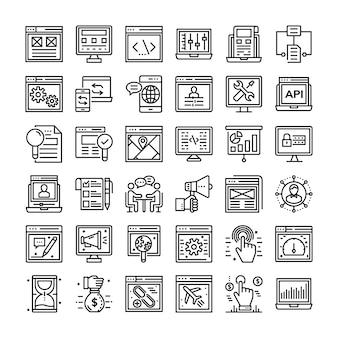 Pacchetto di icone seo e web
