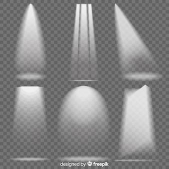 Pacchetto di illuminazione di scena realistica