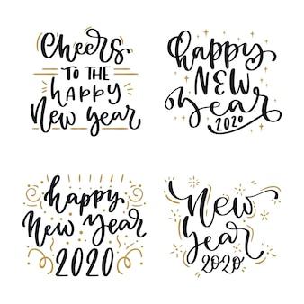 Pacchetto di lettere del nuovo anno 2020