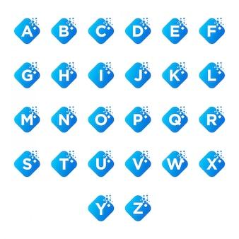 Pacchetto di lettere dell'alfabeto logo
