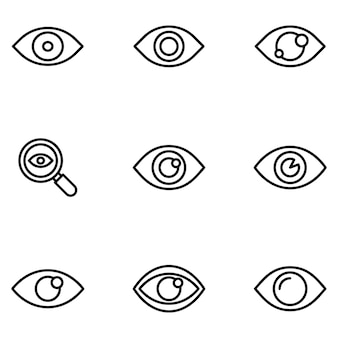 Pacchetto di linea di simboli dell'occhio