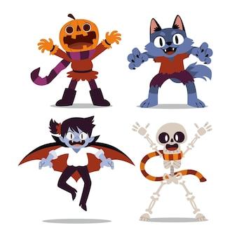 Pacchetto di personaggi di halloween