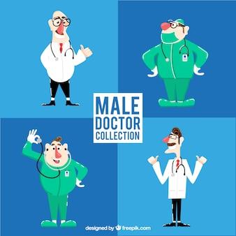 Pacchetto di personaggi maschi di medici e chirurghi