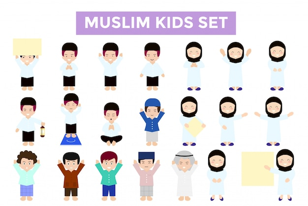 Pacchetto di personaggi musulmani