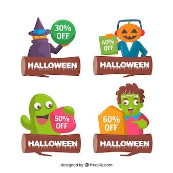 Pacchetto di quattro adesivi halloween offre