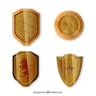 Pacchetto di quattro scudi d'oro medievali