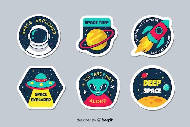 Pacchetto di raccolta badge galaxy
