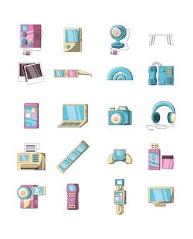 Pacchetto di set di icone di varietà