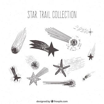 Pacchetto di stelle disegnate a mano