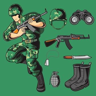 Pacchetto di vettore dell'esercito