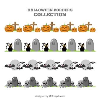 Pacchetto elementi decorativi halloween