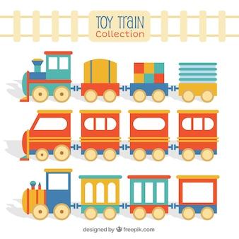 Pacchetto ferroviario per giocattoli piatti