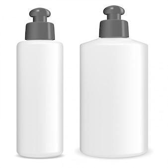 Pacchetto flacone di shampoo cosmetico. contenitore in gel 3d