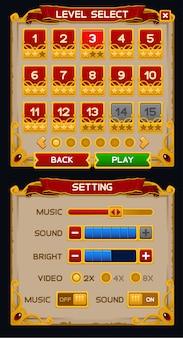 Pacchetto gui di gioco medievale